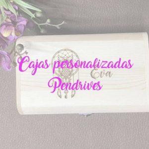Cajas de madera personalizadas; Pendrives